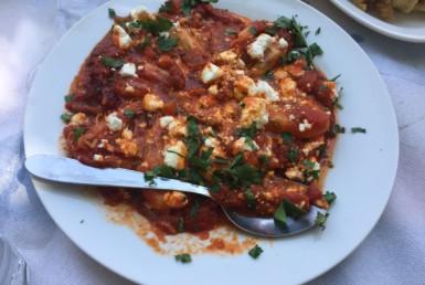 Γαρίδες Σαγανάκι στο Περιγιάλι στη Ναύπακτο