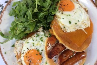 Αλμυρά Pancakes στο Big Spoon στην Αγία Παρασκευή