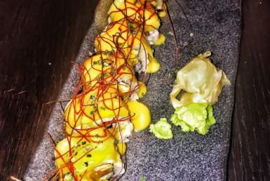 Salmon Sashimi στο Inbi Costa Navarino στην Πύλο